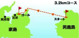家島オープンウォーターコース図