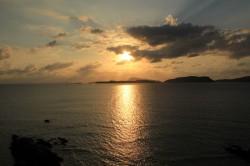 阿波連展望台から見る夕日