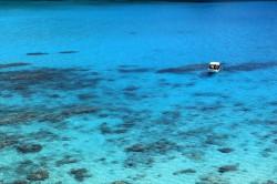 渡嘉敷島、離れ島から見た海