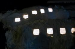 白川郷ライトアップのねこバス