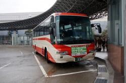 五箇山・白川郷行きバス