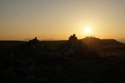 牛伏山からの夕陽