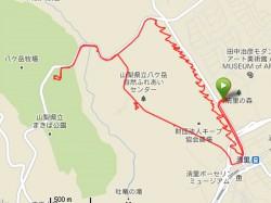サイクリングのコース図