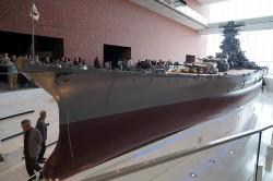 ミュージアムの戦艦大和模型