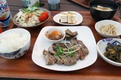 阿嘉島のペンションLagoon315の晩ご飯
