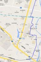 GPSログの地図