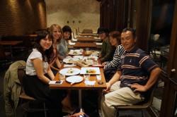 六甲山頂での食事