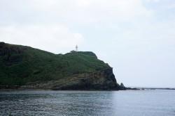 久部良港から見た西崎