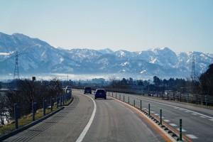 金沢から五箇山への車中より