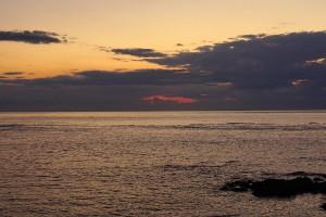オホーツクの夕焼け