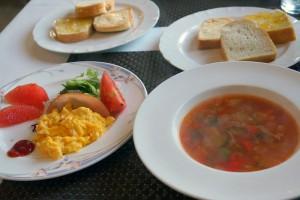 ペンションわにの家の朝食