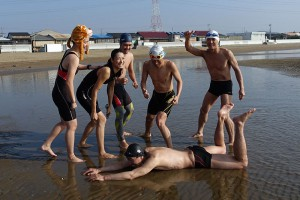 チームしらさぎ寒中水泳