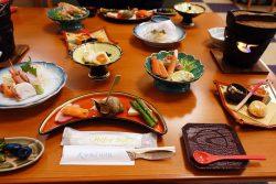 知床ノーブルホテルの夕食