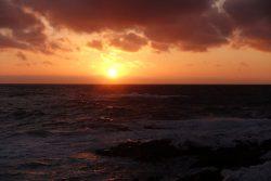 知床の夕日