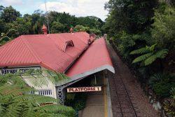 キュランダ鉄道の駅