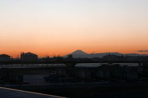 羽田空港からの富士山