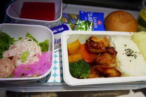 ニュージーランド航空の機内食