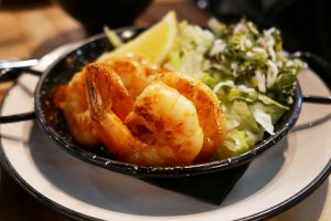 Garlic & Ginger Pan Fried Prawns