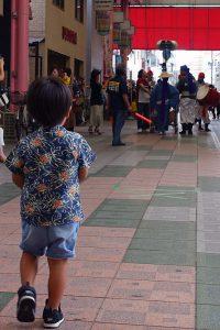 平尾商店街のエイサー