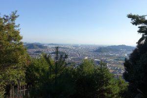 書写山圓教寺への道からの眺め