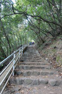 布引の滝へのハイキング道