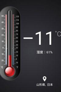 気温-11