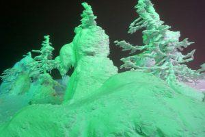 蔵王樹氷ライトアップ