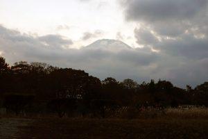 山中湖村から見る富士山
