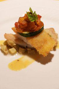 オーベルジュ 銀のテラスの夕食 魚料理