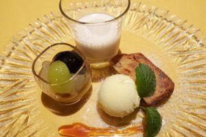 オーベルジュ 銀のテラスの夕食 デザート