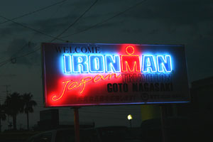 アイアンマンのネオンサイン